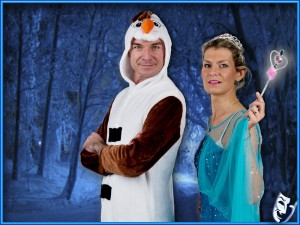 Divadlo Vetři - Elsa a Olaf na cestách - grafika